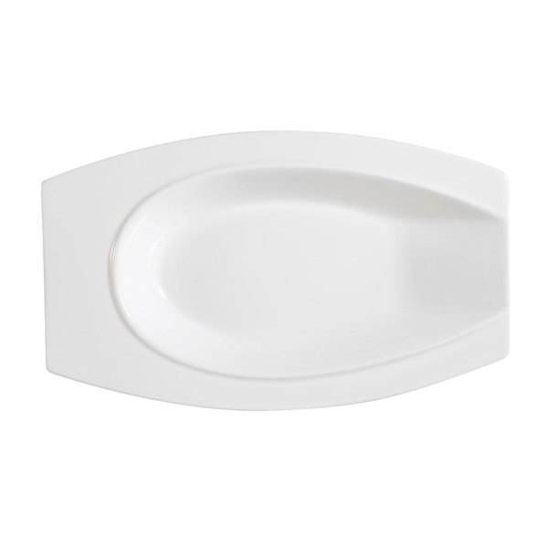 CAC HSD-10 Bone White Porcelain Horse Shoe Platter - 24/Case