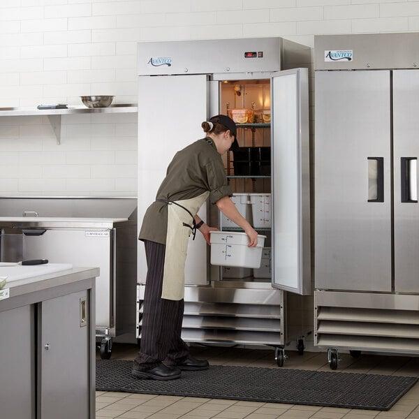 """Avantco A-35R-HC 39 1/2"""" Solid Door Reach-In Refrigerator Main Image 6"""