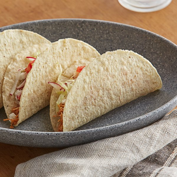 """Mission 25-Pack 5"""" White Corn Hard Taco Shell - 8/Case"""