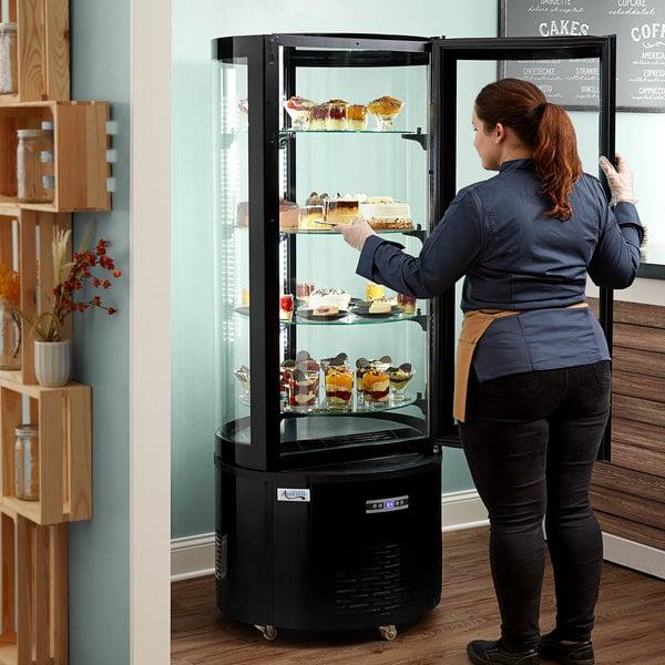 Avantco BCR-15-HC Black Circular Glass Refrigerated Display Case Main Image 6