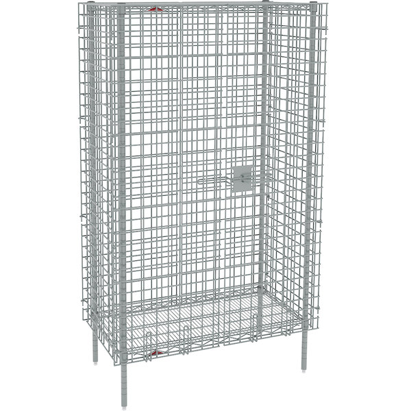 """metro sec33s stainless steel stationary wire security cabinet 38 1/2"""" x 21  1/2"""" x 66 13/16"""""""