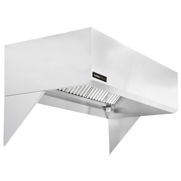 Halifax 421scho1448 Type 1 14 X 48 Commercial Kitchen Hood With Short Cycle Makeup Air Hood Only