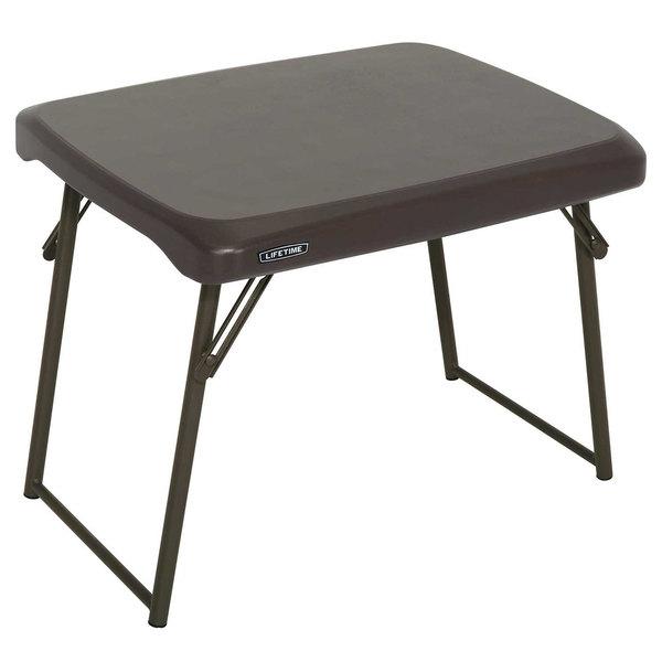 Tremendous Lifetime 280488 24 X 18 Brown Compact Folding Table Pabps2019 Chair Design Images Pabps2019Com
