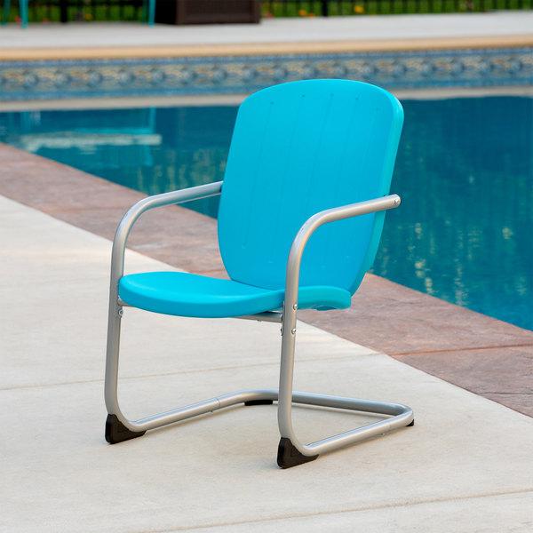 Lifetime 60161 Blue Retro Patio Chair