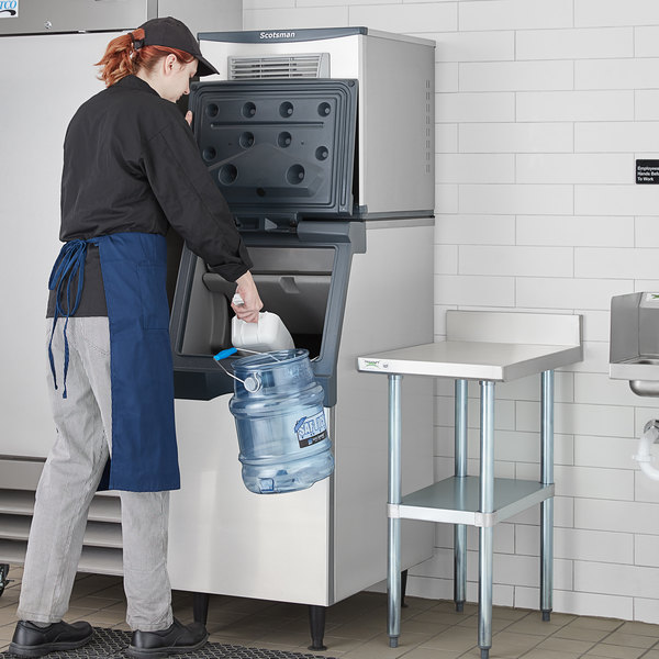 "Scotsman C0322MA-1 Prodigy Plus Series 22"" Air Cooled Medium Cube Ice Machine with Ice Storage Bin and Advanced Sustainability Kit - 356 lb. Main Image 5"