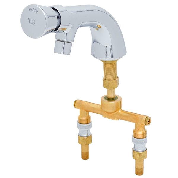 Hot T&S B-0807 Slow Self-Closing Single Temperature Mixing Faucet - Deck Mounted