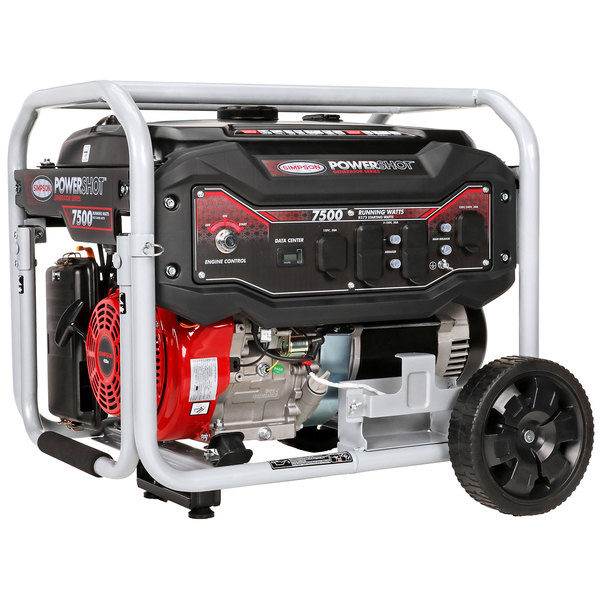 Simpson 70007 Portable 12.5 HP Heavy-Duty 420cc Generator with Recoil / Electric Start - 9300/7500W, 120/240V Main Image 1