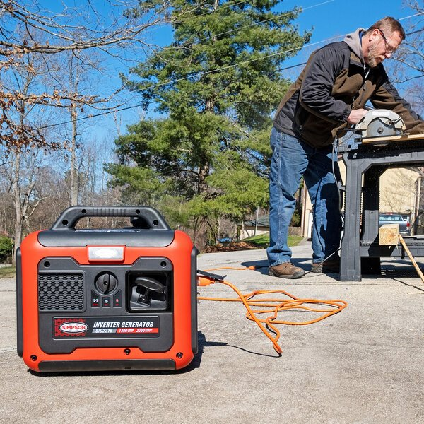 Simpson 70061 Portable 3 HP Inverter / Generator with Recoil Start - 2200/1800W, 120V Main Image 7