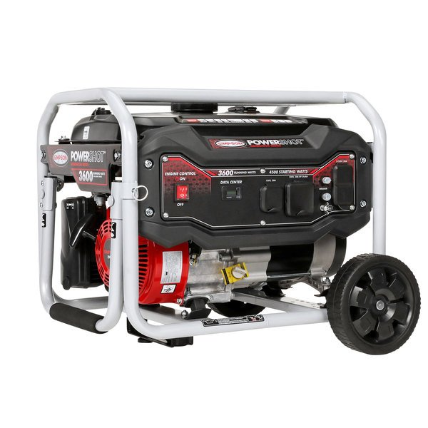 Simpson 70005 Portable 6.5 HP Heavy-Duty 224cc Generator with Recoil Start - 4500/3600W, 120V Main Image 1