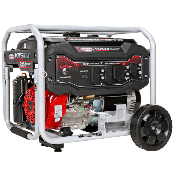 Simpson 70008 Portable 14.5 HP Heavy-Duty 439cc Generator with Recoil Start- 10,000/8300W, 120/240V Main Image 1