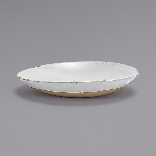 Front of the House DBO162BEP23 Artefact 24 oz. Ash Round Porcelain Low Bowl - 12/Case