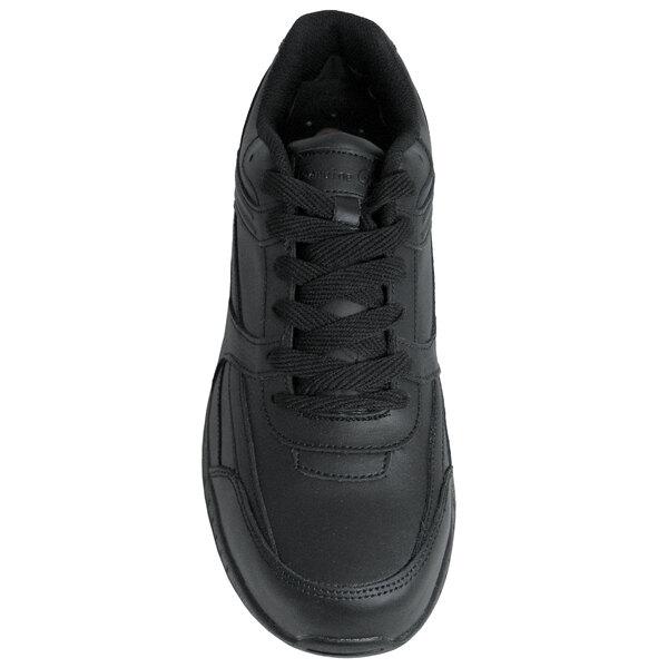 Black Leather Athletic Non Slip Shoe