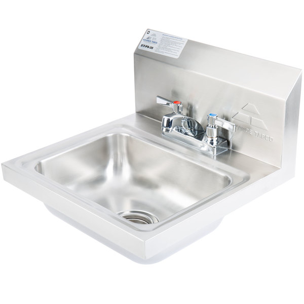 Advance tabco 7 ps 20 stainless steel hand sink with faucet and hand washing stations are required in many industries especially in food service this station is built for frequent use in commercial facilities workwithnaturefo