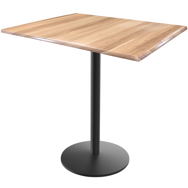 Magnificent Holland Bar Stool Od214 2236Bwod3248Nat Endurotop 32 X 48 Natural Wood Laminate Indoor Outdoor Counter Height Table With Round Base Gmtry Best Dining Table And Chair Ideas Images Gmtryco