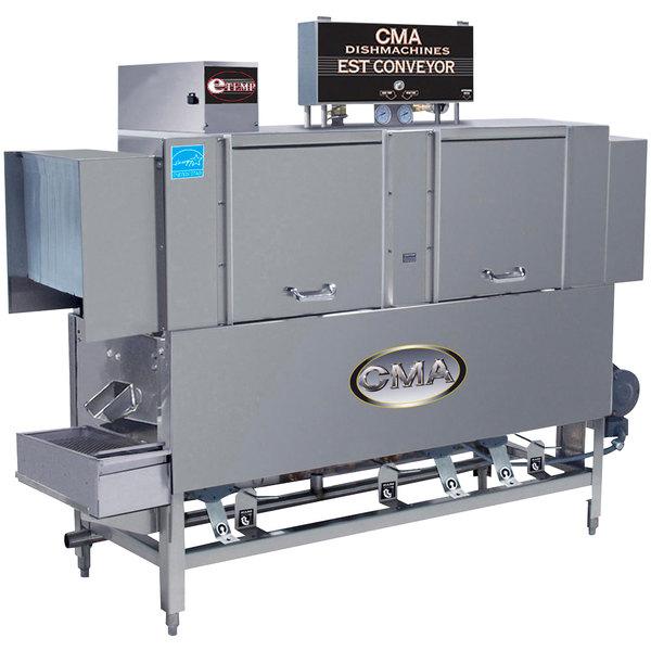 CMA Dishmachines EST-66 High Temperature Conveyor Dishwasher - Left to Right, 240V, 3 Phase