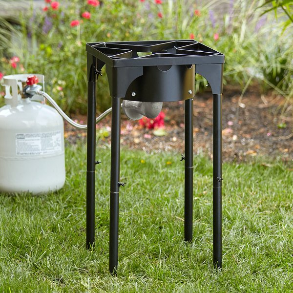 Backyard Pro Square Single Burner Outdoor Patio Stove / Outdoor Range with Adjustable Height - 110,000 BTU Main Image 4