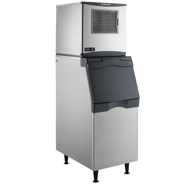 Scotsman N0422A-1 Prodigy Plus Series 22 15/16 inch Air Cooled Nugget Ice Machine and Ice Storage Bin - 420 lb.