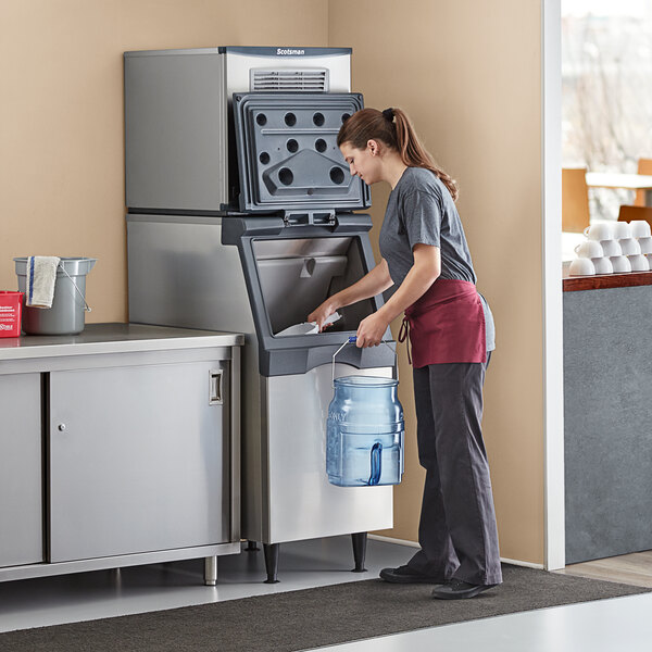 """Scotsman N0422A-1 Prodigy Plus Series 22 15/16"""" Air Cooled Nugget Ice Machine and Ice Storage Bin - 420 lb. Main Image 6"""