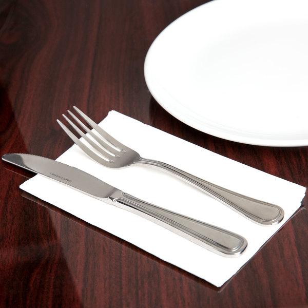 "Choice 15"" x 17"" White 3-Ply Dinner Napkin - 100/Pack Main Image 4"