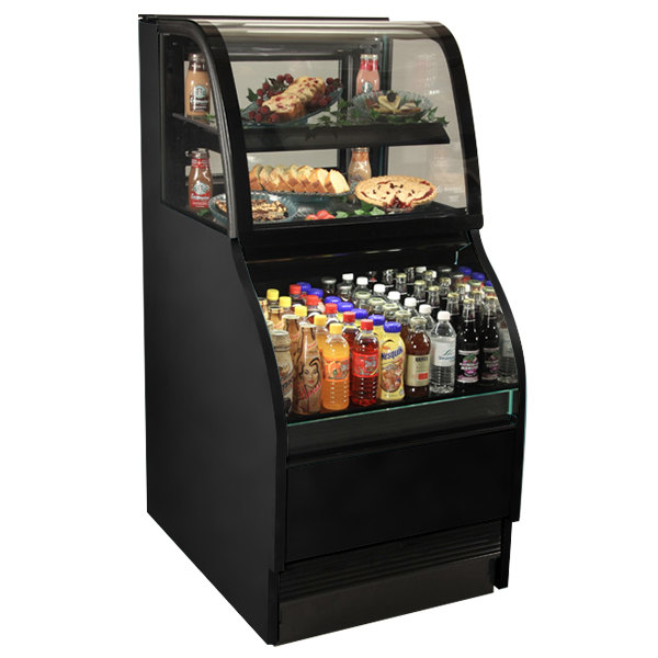 "Structural Concepts Harmony HMBC2-QS Black 27"" Refrigerated Dual Service Merchandiser Case - 120V"