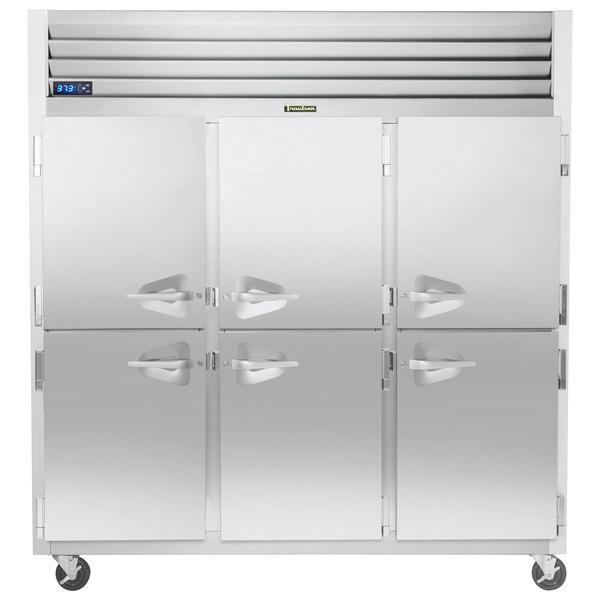 "Traulsen G31000-032 76 1/4"" G Series Half Door Reach-In Freezer with Left / Right / Right Hinged Doors Main Image 1"