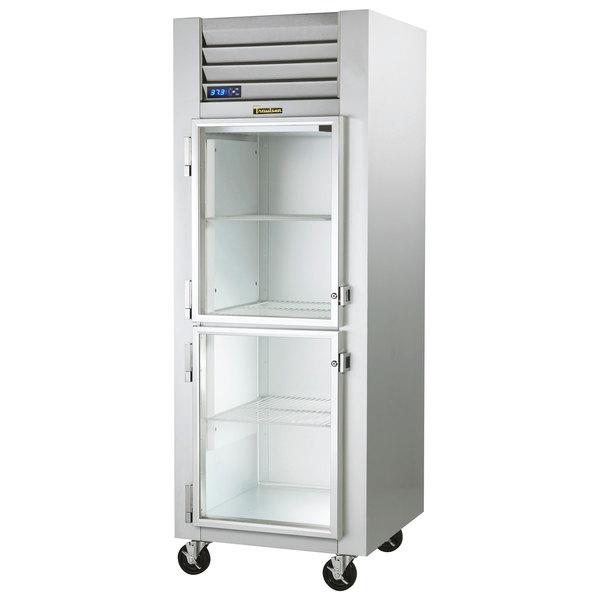 """Traulsen G11001-032 30"""" G Series Glass Half Door Reach-In Refrigerator with Left Hinged Doors Main Image 1"""