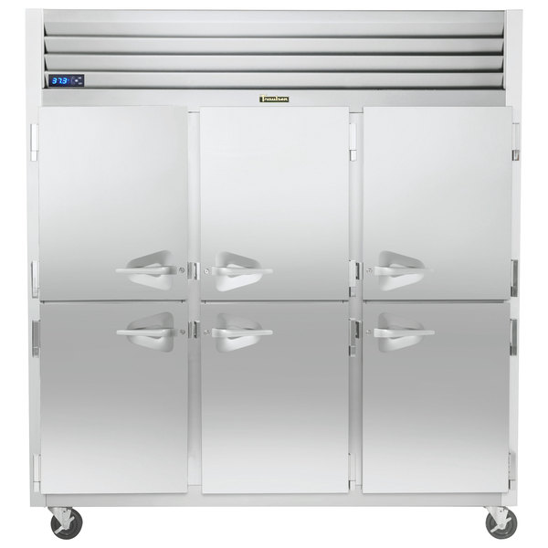"""Traulsen G30000-032 76 1/4"""" G Series Half Door Reach-In Refrigerator with Left / Right / Right Hinged Doors Main Image 1"""