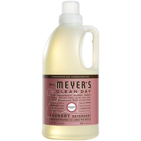 Mrs. Meyer's Clean Day 675595 64 oz. Rosemary Laundry Detergent - 6/Case Main Image 1