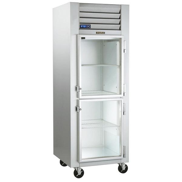 "Traulsen G11000-032 30"" G Series Glass Half Door Reach-In Refrigerator with Right Hinged Doors Main Image 1"