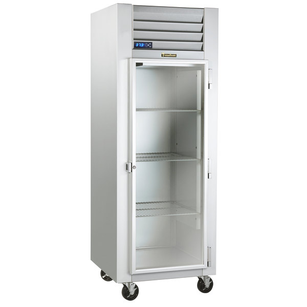 "Traulsen G11010-032 30"" G Series Glass Door Reach-In Refrigerator with Right-Hinged Glass Door Main Image 1"