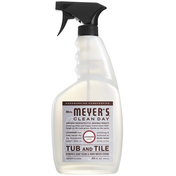 Mrs. Meyer's Clean Day 663009 33 oz. Lavender Tub and Tile Cleaner - 6/Case Main Image 1