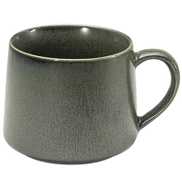 Front of the House DCS046DGP23 Kiln 10 oz. Sage Porcelain Cup - 12/Case Main Image 1