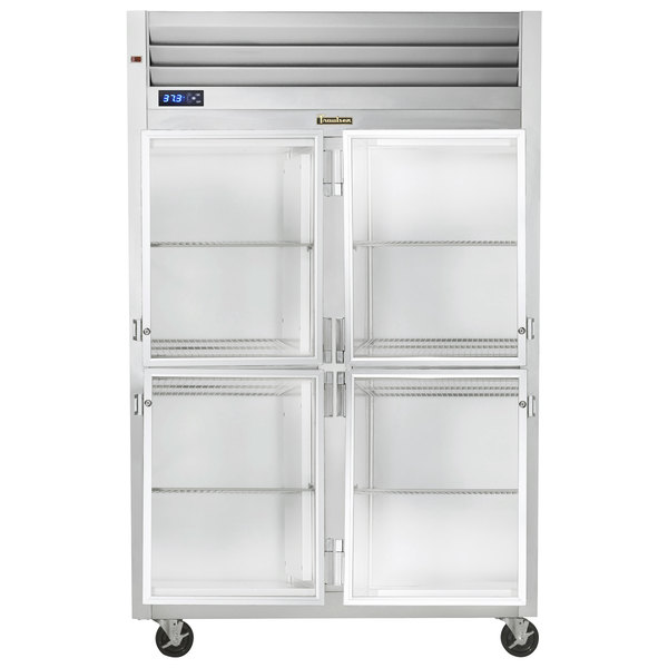 "Traulsen G21001-032 52"" G Series Glass Half Door Reach-In Refrigerator with Right / Left Hinged Doors Main Image 1"