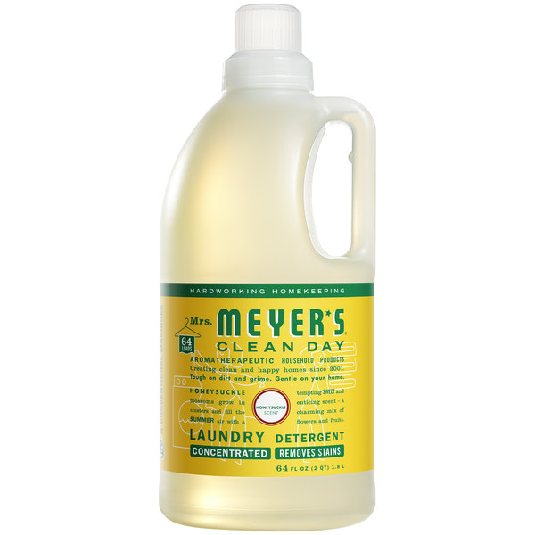 Mrs. Meyer's Clean Day 675594 64 oz. Honeysuckle Laundry Detergent - 6/Case Main Image 1
