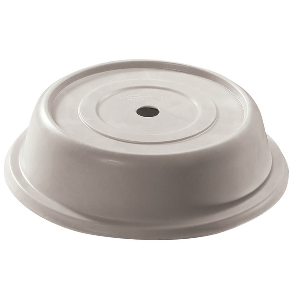 "Cambro 1014VS380 Versa 10 7/8"" Ivory Camcover Round Plate Cover - 12/Case"