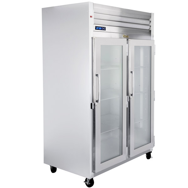 """Traulsen G21012-032 52"""" G Series Glass Door Reach-In Refrigerator with Right / Right Hinged Doors Main Image 1"""