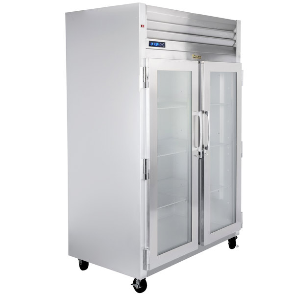"""Traulsen G21010-032 52"""" G Series Glass Door Reach-In Refrigerator with Left / Right Hinged Doors Main Image 1"""