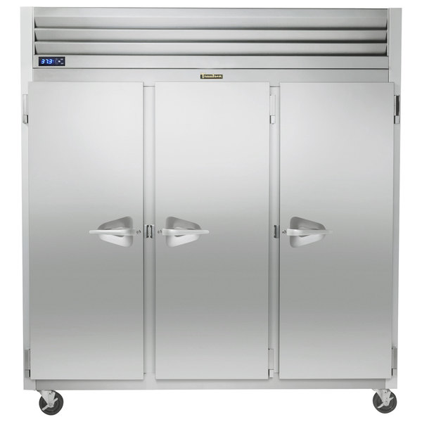 """Traulsen G31010-032 76 1/4"""" G Series Solid Door Reach-In Freezer with Left / Right / Right Hinged Doors Main Image 1"""
