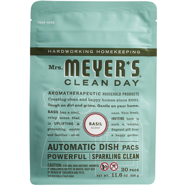 Mrs. Meyer's Clean Day 306686 20-Count Basil Dishwasher Pac - 6/Case Main Image 1