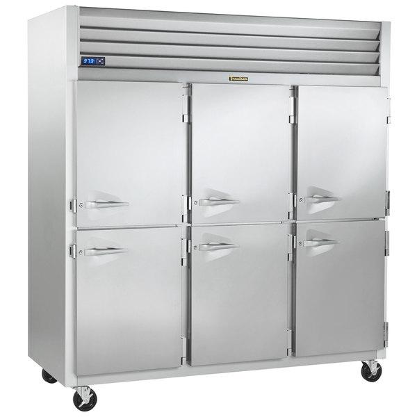 "Traulsen G30002-032 76 1/4"" G Series Half Door Reach-In Refrigerator with Right Hinged Doors Main Image 1"