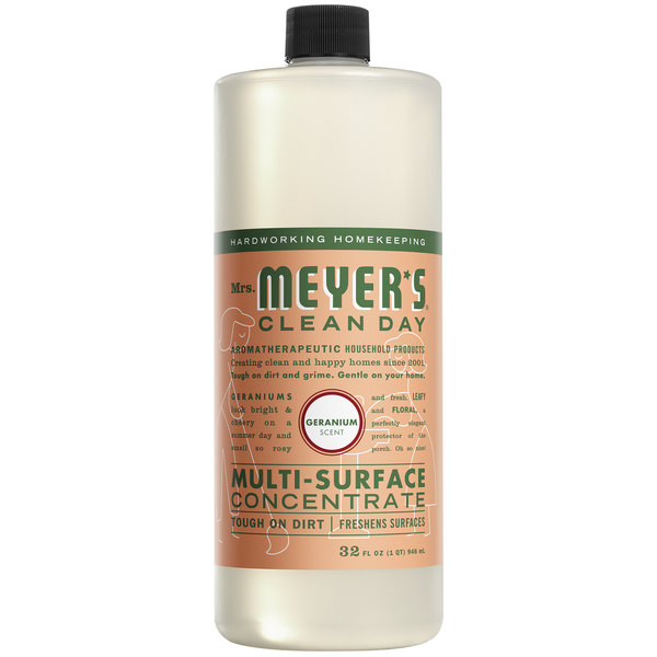 Mrs. Meyer's Clean Day 663035 32 oz. Geranium All Purpose Multi-Surface Cleaner Concentrate - 6/Case Main Image 1