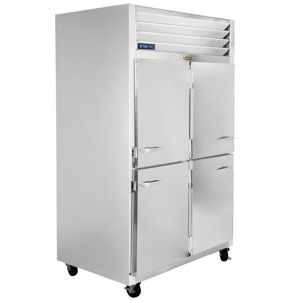 """Traulsen G22001-032 52"""" G Series Half Door Reach-In Freezer with Right / Left Hinged Doors Main Image 1"""