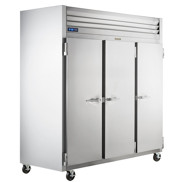 """Traulsen G30010-032 76 1/4"""" G Series Solid Door Reach-In Refrigerator with Left / Right / Right Hinged Doors Main Image 1"""