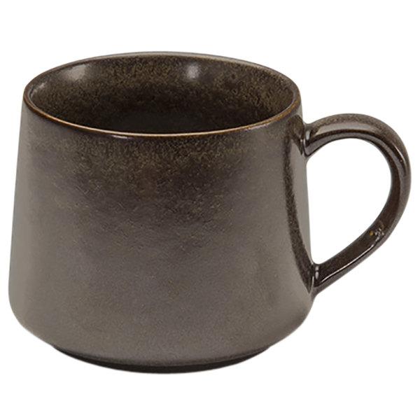 Front of the House DCS046ESP23 Kiln 10 oz. Mocha Porcelain Cup - 12/Case Main Image 1