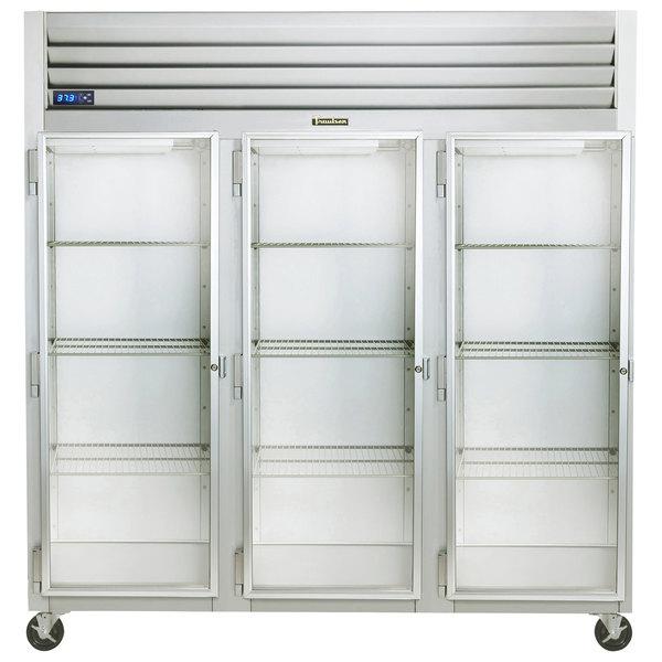 "Traulsen G32013-032 76 1/4"" G Series Glass Door Reach-In Refrigerator with Left Hinged Doors Main Image 1"