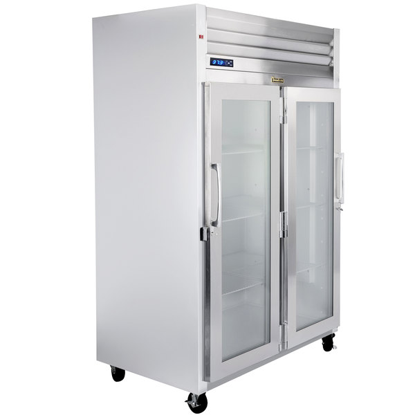 """Traulsen G21011-032 52"""" G Series Glass Door Reach-In Refrigerator with Right / Left Hinged Doors Main Image 1"""