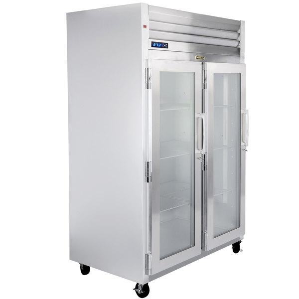 """Traulsen G21013-032 52"""" G Series Glass Door Reach-In Refrigerator with Left / Left Hinged Doors Main Image 1"""