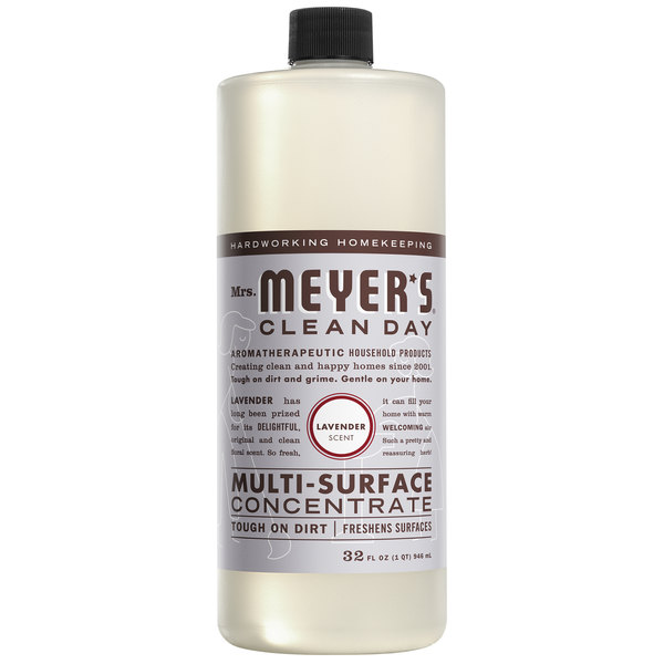 Mrs. Meyer's Clean Day 663010 32 oz. Lavender All Purpose Multi-Surface Cleaner Concentrate - 6/Case Main Image 1