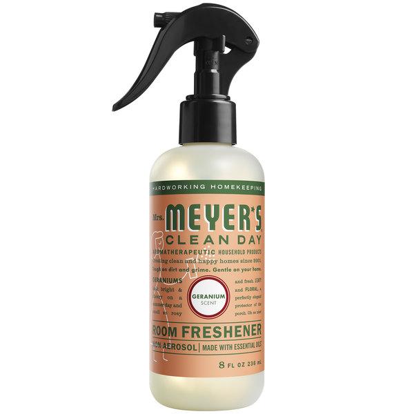 Mrs. Meyer's Clean Day 670765 8 oz. Geranium Air Freshener Deodorizer Spray - 6/Case Main Image 1