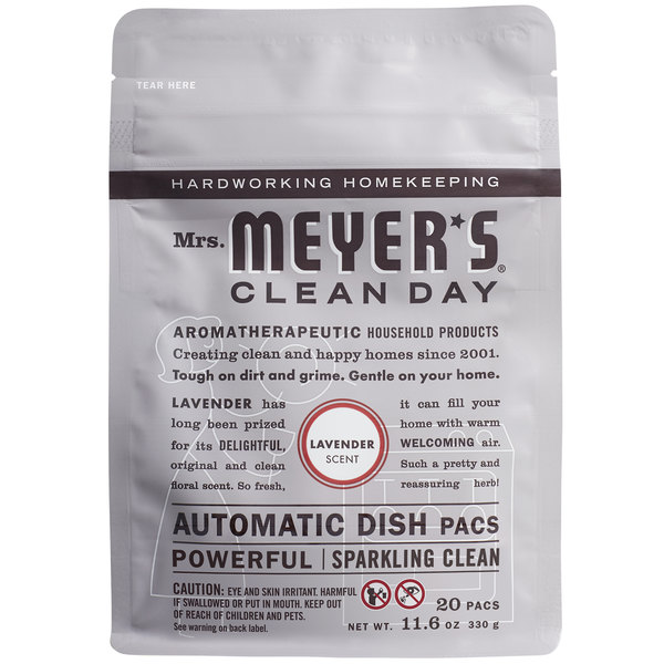Mrs. Meyer's Clean Day 306685 20-Count Lavender Dishwasher Pac - 6/Case Main Image 1